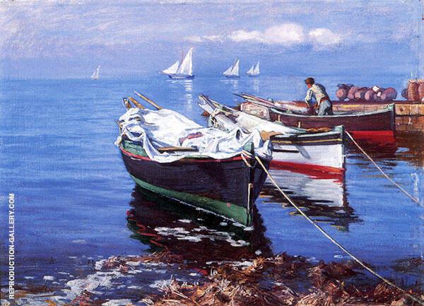 Italian Boats Painting By Elin Kleopatra Danielson Gambogi