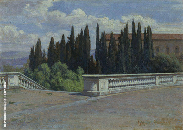 Landscape in Italy Florence Painting By Elin Kleopatra Danielson Gambogi