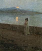 Moonlight on The Lake By Elin Kleopatra Danielson Gambogi