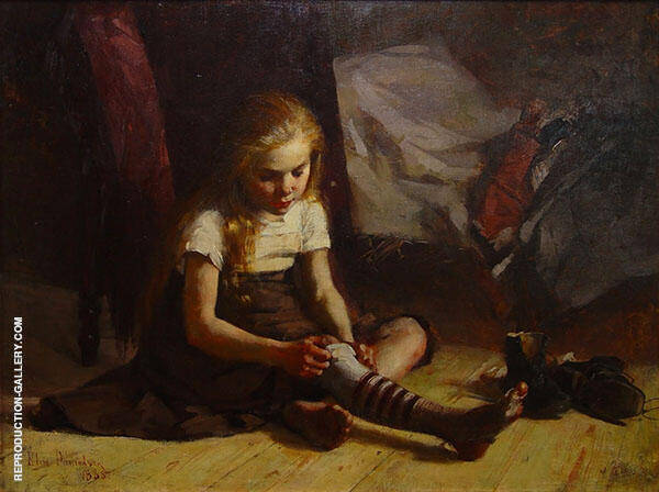 Poor Girl Painting By Elin Kleopatra Danielson Gambogi