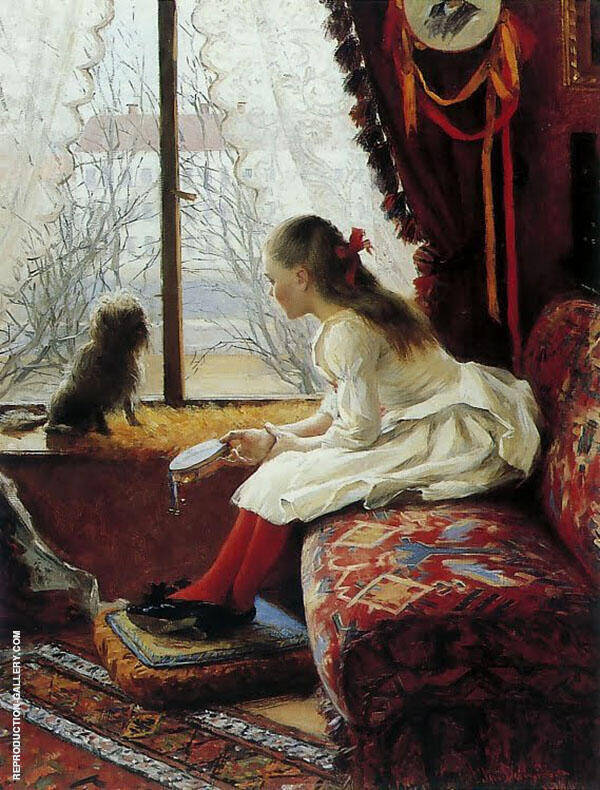 Portrait of Walborg Jakobsson By Elin Kleopatra Danielson Gambogi