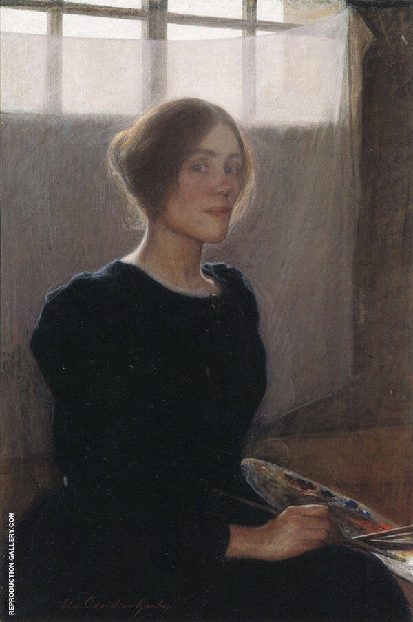 Self Portrait 1900 Painting By Elin Kleopatra Danielson Gambogi