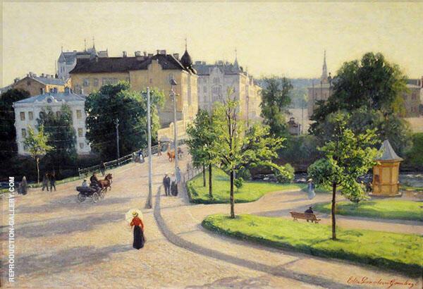 Cityscape Painting By Elin Kleopatra Danielson Gambogi