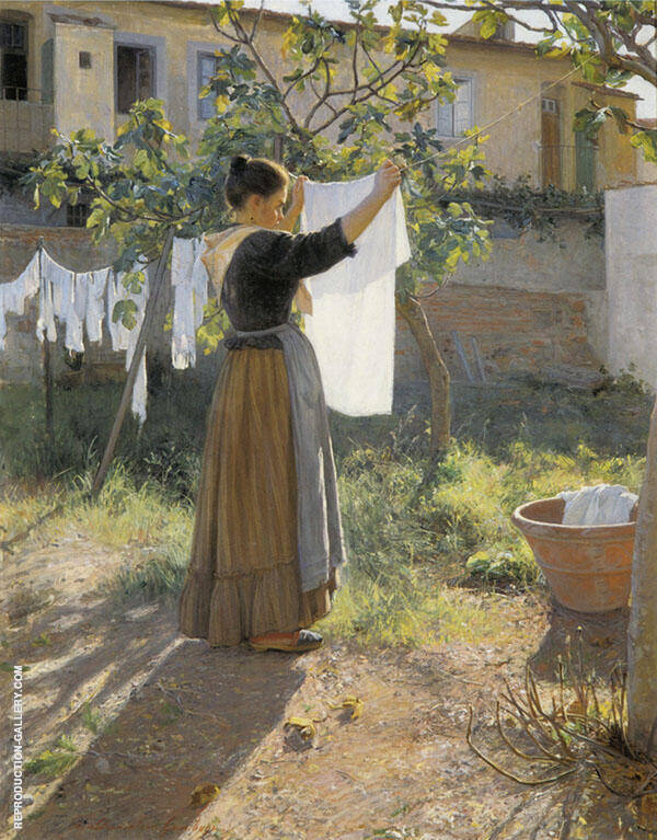 Washing Day 1900 By Elin Kleopatra Danielson Gambogi