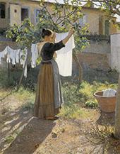 Washing Day 1900 By Elin Kleopatra Danielson Gambogi