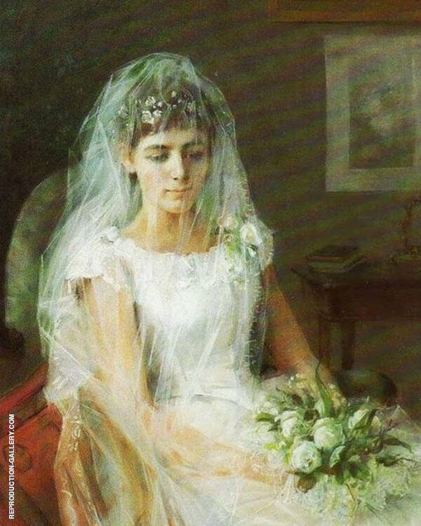 Young Bride 1887 Painting By Elin Kleopatra Danielson Gambogi