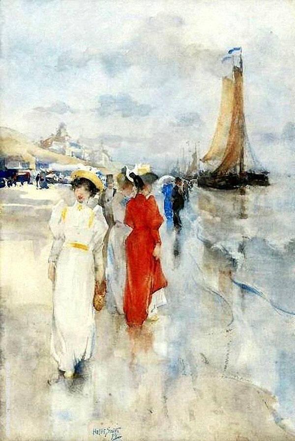 Elegant Ladies at The Beach of Scheveningen By Hobbe Smith