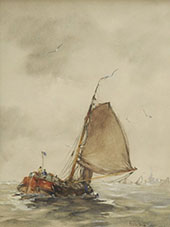Sailing Barge on The Zuiderzee By Hobbe Smith