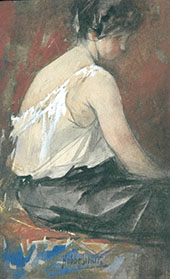 The Seated Model By Hobbe Smith