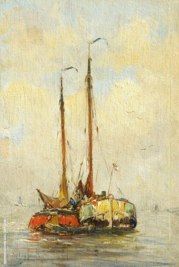 Two Boats By Hobbe Smith