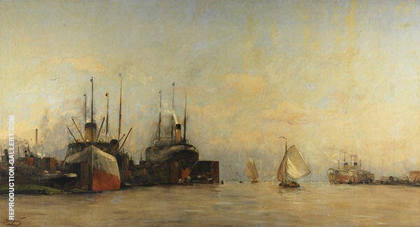 View of Amsterdam Docks By Hobbe Smith