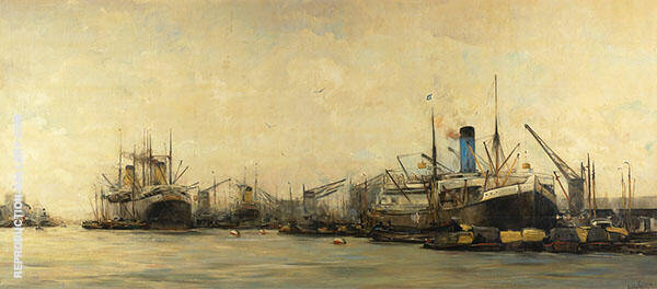 View of Amsterdam Harbor By Hobbe Smith