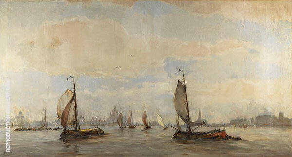 View of Amsterdam Harbor 1 By Hobbe Smith