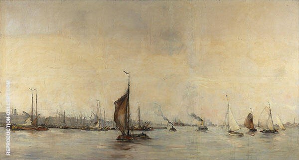 View of Amsterdam Harbor 2 By Hobbe Smith
