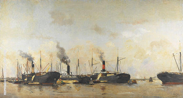 View of Amsterdam Harbor 3 By Hobbe Smith