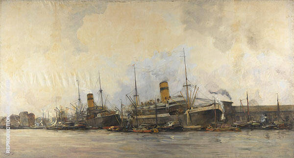 View of The Panama Quay to The West By Hobbe Smith