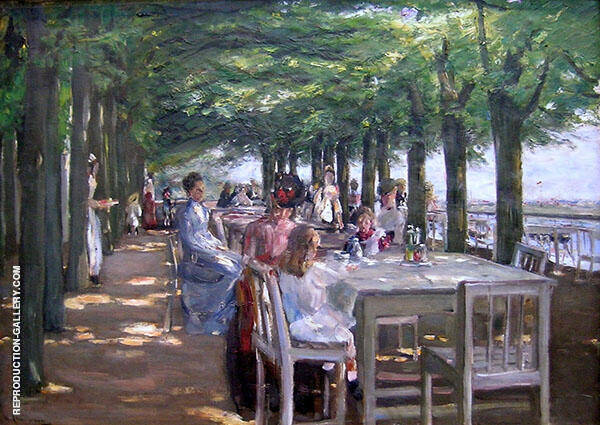 The Terrace at Restaurant Jacob in Nienstedten on the Elbe 1902 By Max Liebermann