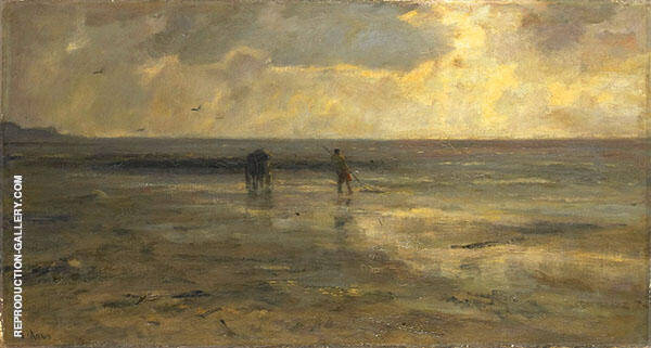 Evening at The Beach By Jacob Maris