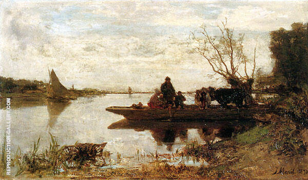 Ferry By Jacob Maris
