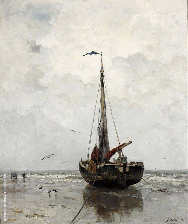Fishing Boat By Jacob Maris