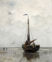 Fishing Boat By Jacob Maris