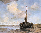Fishing Boat on The Beach By Jacob Maris
