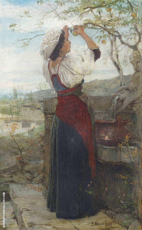 Gathering Fruits By Jacob Maris