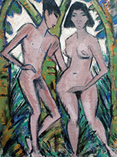Adam and Eve By Otto Mueller