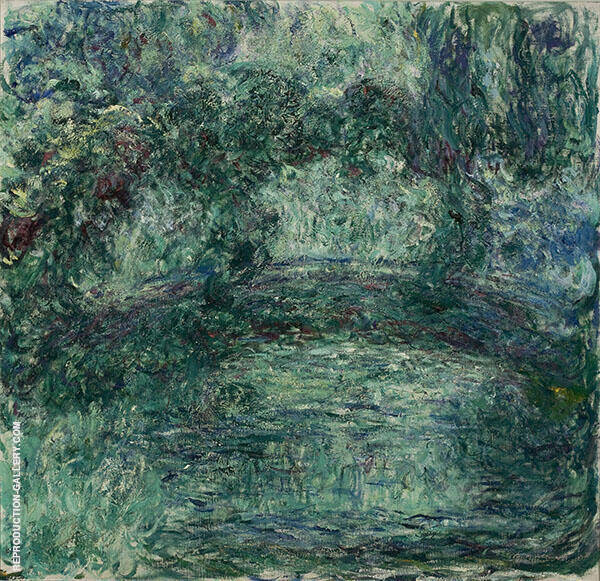 The Japanese Bridge over the Water Lilies Pond in Giverny by Claude Monet   Oil Painting Reproduction Replica On Canvas - Reproduction Gallery