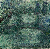 The Japanese Bridge over the Water Lilies Pond in Giverny By Claude Monet