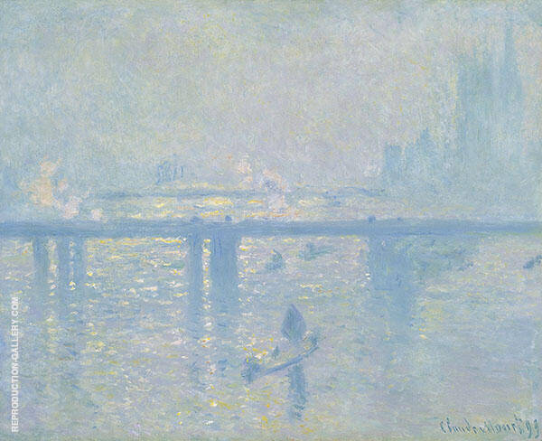 Charing Cross Bridge by Claude Monet | Oil Painting Reproduction Replica On Canvas - Reproduction Gallery
