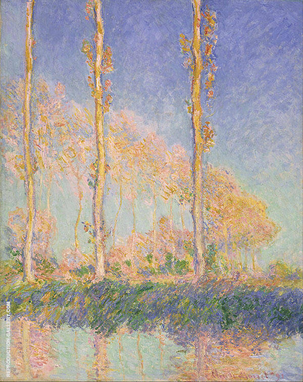 Poplars 1891 Painting By Claude Monet - Reproduction Gallery