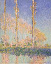 Poplars 1891 By Claude Monet