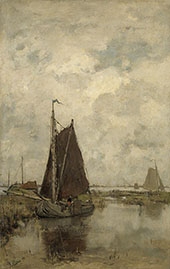 Gray Day with Ships By Jacob Maris