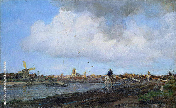 Landscape with Windmills By Jacob Maris