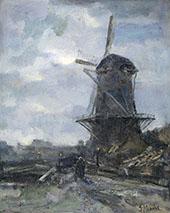 Mill at Moonlight c1899 By Jacob Maris