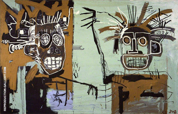 Untitled Two Heads on Gold 1982 By Jean-Michel-Basquiat