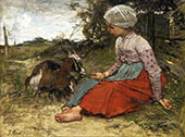 The Pet Goat 1871 By Jacob Maris