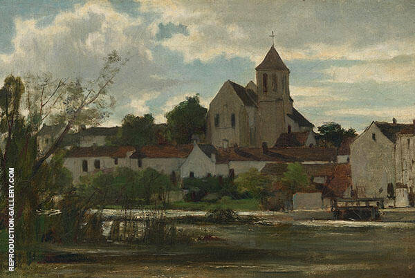 View of Montigny sur Loing By Jacob Maris