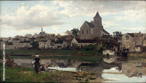 View of Montigny sur Loing II By Jacob Maris
