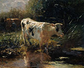Cows Beside a Ditch c1885 By Willem Maris
