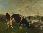 Cows in Marsh Land By Willem Maris