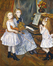 The Daughters of Catulle Mendes 1888 By Pierre Auguste Renoir