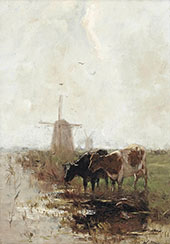 Cows near The Waterfront 2 By Willem Maris