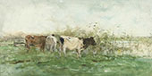 Cows with a Puddle By Willem Maris