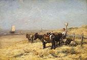 Donkeys on Beach By Willem Maris