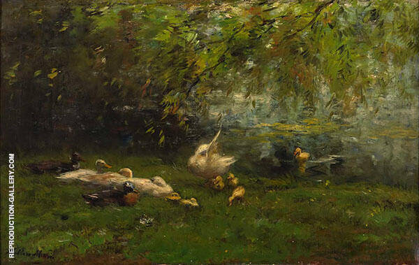 Duck Haven By Willem Maris