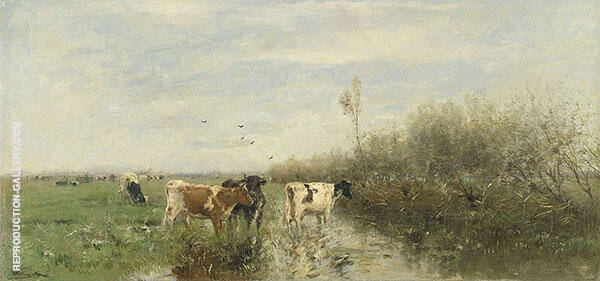 Landscape with a Herd of Cattle By Willem Maris