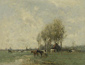 Pasture with Cows By Willem Maris