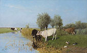 Sunlit Meadow c1910 By Willem Maris